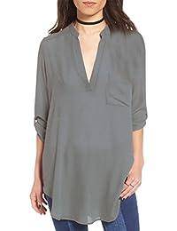 Blusas de Vestir Manga Larga Cuello EN V Blusa Gasa Fiesta Camisas Mujer Camisetas Largas Elegantes Dama Bonitas Blusas Top Para…