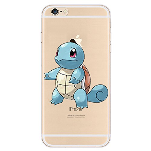 EatMyCase® für iPhone Modelle Pokemon Fall Collection - Custom Cute Cartoon Soft Gel TPU Back Cover Pen Stylus, 4: Squirtle, iPhone 6plus 6s+