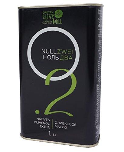 Olivenöl Extra Nativ 0,2% Säuregehalt 1 Liter Kanister aus Kreta Griechenland Premium Feinschmecker Gourmet Oliven Öl mit wenig Säure