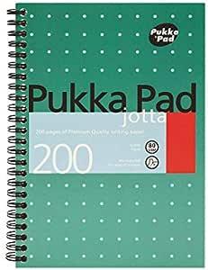 Pukka Pads carnets/ / 3 /Pukka Pad A5/Couverture Pad m/étallique 200/pages lign/ées carnets/