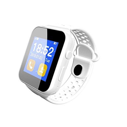 samLIKE I8 Smartwatch mit SIM Slot Schrittzähler Schlafüberwachung Fernbedienung Kamera für Samsung Android Handy【Coolste Smartwatch in diesem Sommer】 (Weiß)
