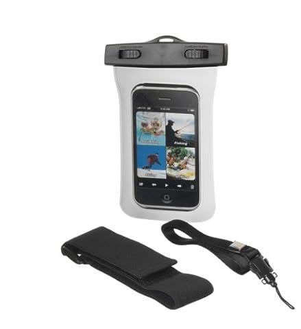 Wasserdichte Handytasche in weiss für Samsung Galaxy S4 Mini i9192 Handy Tasche Armband-Tasche Schutz Hülle Slim Case Cover Etui waterproof für Outdoor