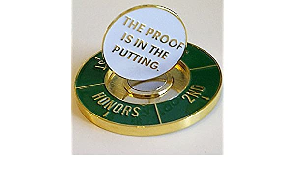 Buy Starter Coin with golf ball marker engraved with putter