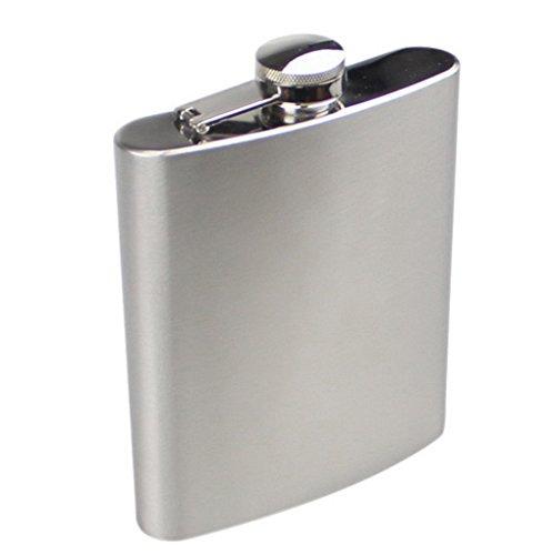 ACME Flachmann Edelstahl 18 oz (450 ml) Silber