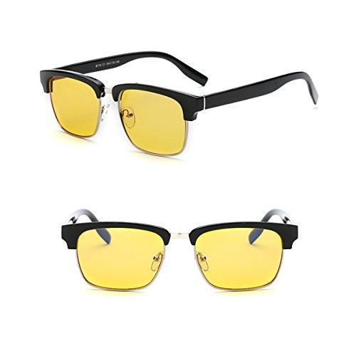 TOPSTARONLINE Blau Licht-Filter UV-Blocker Brille [anti-eyestrain] PC Game/Computer/Handy/TV Lesen Schutz Eyewear, Unisex (Herren/Frauen/Junioren), Vintage semi-rimless Rahmen 068116 Schwarz