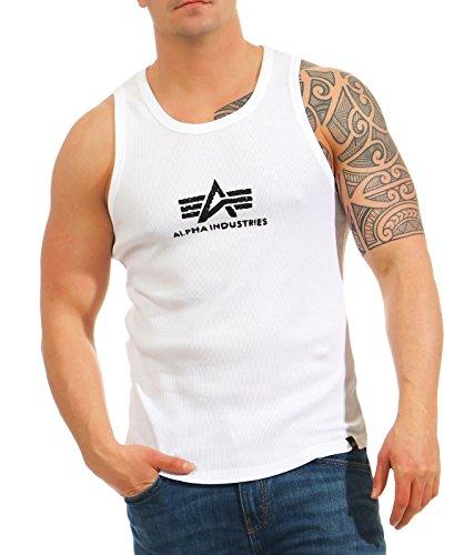 Alpha Industries Herren Oberteile / Tank Tops Logo White