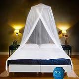 EVEN NATURALS MOSKITONETZ Doppelbett, XXL Mückennetz Bett inkl. Montagematerial, Betthimmel, Moskitoschutz Zuhause, Insektenschutz Reise, einfache Anbringung, Tragetasche, Keine Chemikalien