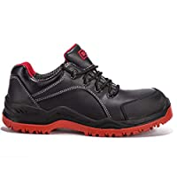 Black Hammer Mens Safety Trainers Steel Toe Cap and Steel Midsole Waterproof Work Lightweight Shoes Ankle Hiker Boots 7007 S3 SRC
