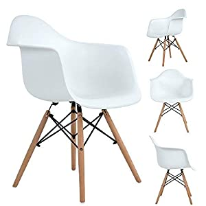 Stuhl Weiß Mit Holzbeinen Günstig Online Kaufen Dein Möbelhaus