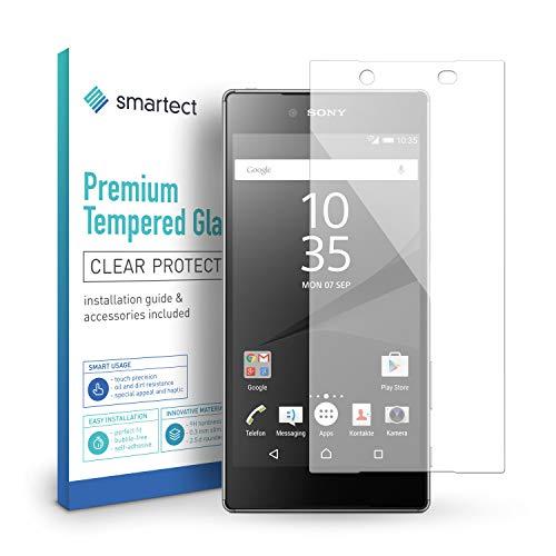 smartect Panzerglas für Sony Xperia Z5 - Bildschirmschutz mit 9H Härte - Blasenfreie Schutzfolie - Anti Fingerprint Panzerglasfolie