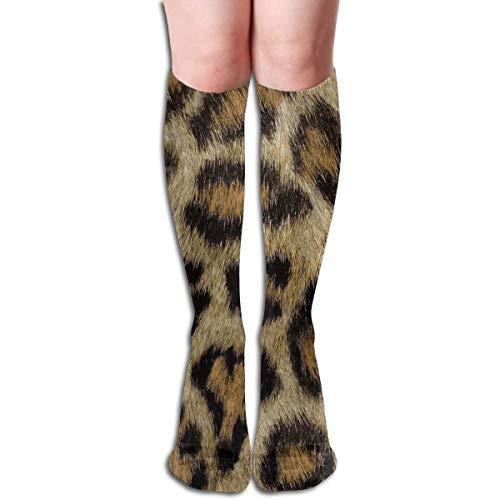 ouyjian Etosha Leopard Compression Socks Adult Knee High Sock Gym Outdoor Socks 50cm 19.7inch trend 5065