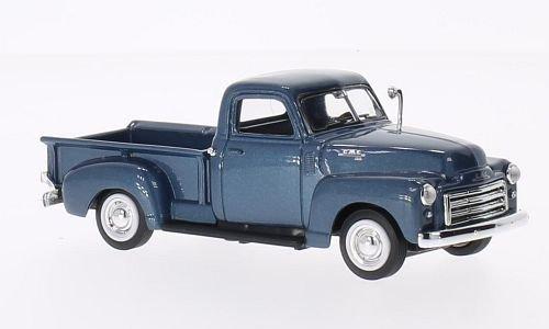 GMC Pick Up, metallic-blau, 1950, Modellauto, Fertigmodell, Lucky Die Cast 1:43 (Gmc Spielzeug Auto)
