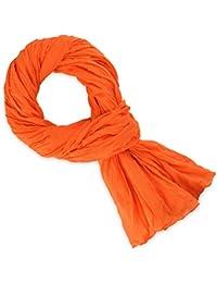 Chèche coton orange uni