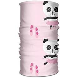 Pengyong - Bufanda de Microfibra con Capucha, diseño de Panda Rosa, Unisex, Secado rápido, para Exteriores
