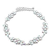 LUOEM Taille Kette Frauen Crystal Strass Metall Taille Kette Gürtel Diamante Kleid Dekor