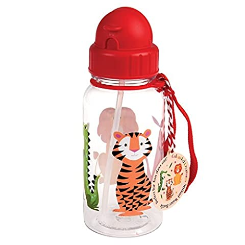 BPA Free Plastic Kids Water Bottle 500ml - Choice Of Design ( Colourful Creatures )