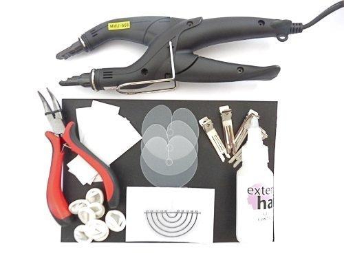 Kit de pose et d'enlèvement d'extensions à chaud, pince chauffante avec contrôle de la température pour cheveux pré-collés
