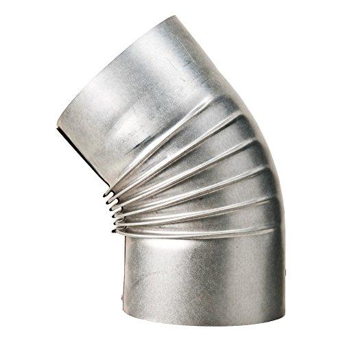 MULDENTHALER Bogen, gerippt, 45°, ohne Reinigungs-Öffnung, ø 110 mm