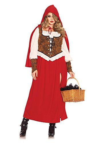 Leg Avenue 85376X - Woodland Rotkäppchen Damen kostüm , Größe 3X-4X (EUR 48-50), Karneval Fasching
