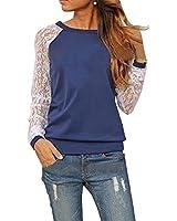 Sannysis Frauen-Dame-Spitze-Sweatshirt-Bluse
