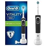 Oral-B Vitality 100 Oplaadbare Elektrische Tandenborstel - 1 Zwart Handvat, 1 CrossAction Opzetborstel