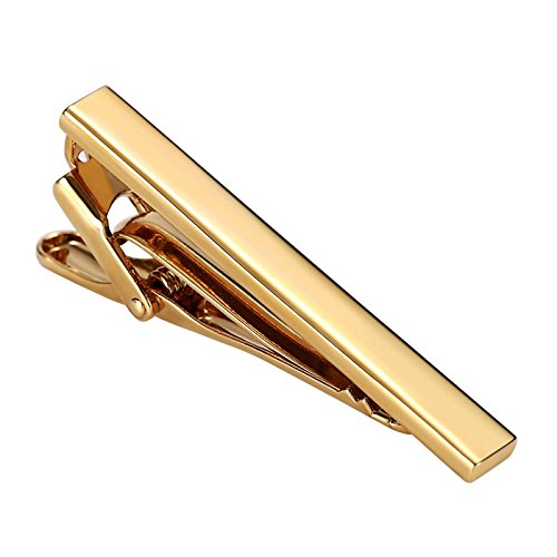 Epinki Herren Krawattenklammer Edelstahl Rille Linien Tie Gold Tie Clip