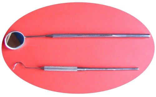 Set: Dentalspiegel (normal ) + Sonde ( rund ) Mundspiegel Nr. 5