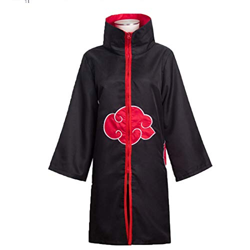 RL Naruto Cosplay Kostüm Akatsuki Umhang Hoodie Naruto Uchiha Itachi Anime Cosplay Kostüm,Cloak-L