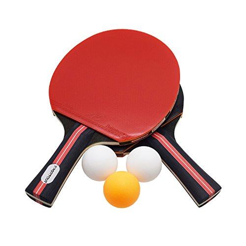 Easy-Room Customized Tischtennis Set, 2 Tischtennis-Schläger und 3 Tischtennis-Bälle