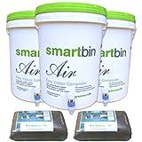 GreenTech Life Smart Bin Air/Compost Bin 20L for 3 To 6 Member Households - Set of 3