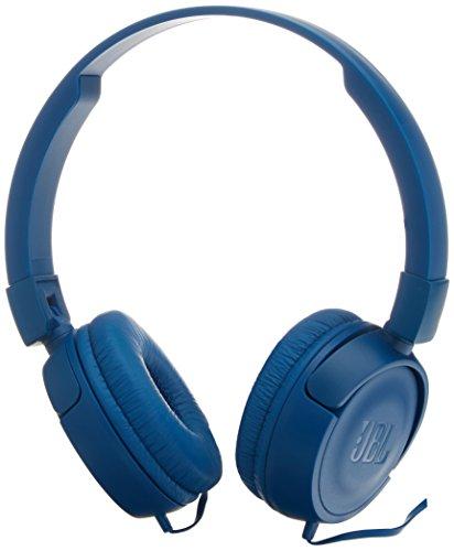 JBL T450 On-Ear Headphones with Mic (Blue)