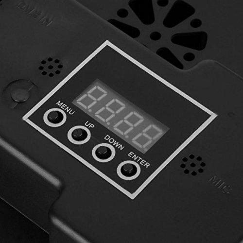 LED Par Licht, Blusmart 24W 18 LED Discolicht mit Musik-activated, Auto-run und DMX512 Steuermodus, Verschiedene Farben Kombinationen von Rot, Grün und Blau, Multi-Winkel drehendem Halter, Europäische Norm-Stecker (18 LED) - 6