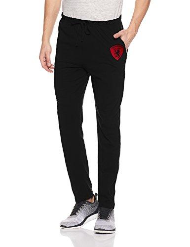 Chromozome Men's Cotton Track Pants (8902733355230_S6762-Black-L)