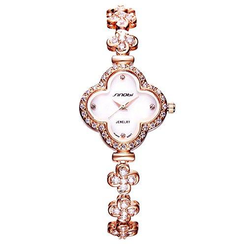 SINOBI 1182L Four Leaf Trèfle Bracelet Montre-Bracelet pour les Femmes