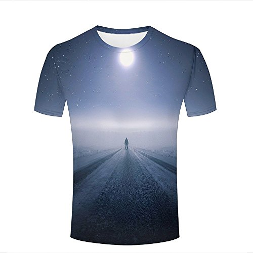 Unisex 3D Graphic T-Shirt Printed Standing Alone Moon Graphic Fashion Couple Tees