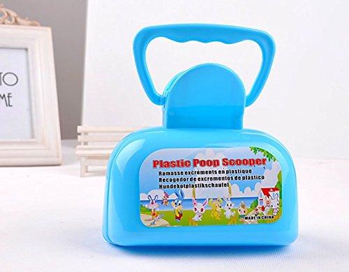 CWYPB Kunststoff PET Pick Hocker Ordner Neue Toilette Pet Products PET WC Dog Hocker Clip Dog-Poo Clip Schaufel Ein Hund-Poo Clip,Blue (Griff-ordner)