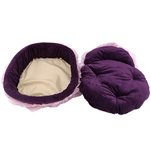 Yinew Lace Cat Nest Runde weiche warme Prinzessin Puppy Kätzchen Bett kleine Tiere Schlafmatte Heimtierbedarf -
