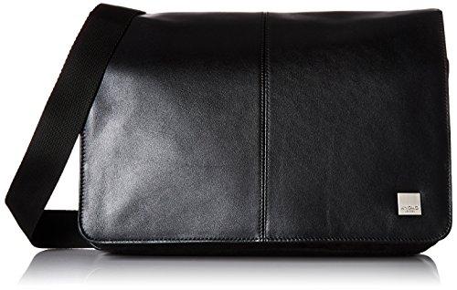 Knomo 154-303-BLK Brompton Kinsale Cross Body, Messenger Tasche mit gepolstertem 13 Zoll Notebook-Fach und integriertem RFID-Schutz für Kreditkarten | Schwarz
