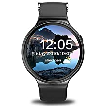 yyi4 monitor de reloj inteligente apoyo ICI i4 3G WIFI GPS para Android ritmo cardíaco reloj inteligente de los hombres con 1,39 pulgadas , black