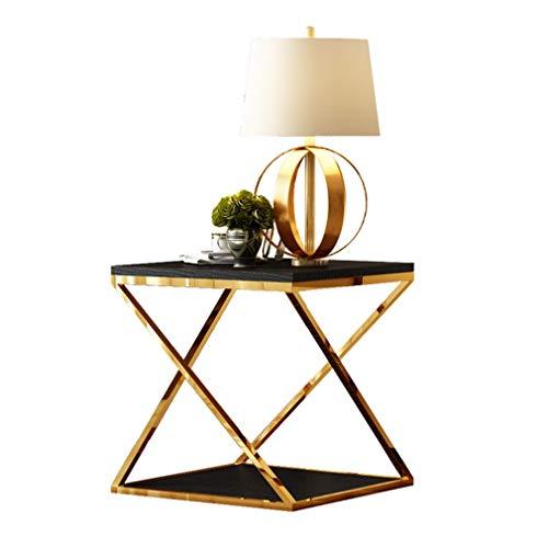 Q-Tabelle Kaffeetisch/Couchtisch, nordischen Stil Beistelltisch, Nachttisch, Stilmöbel aus Edelstahl im nordischen Stil