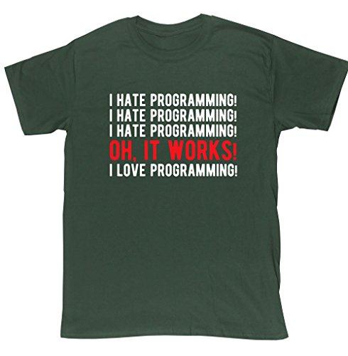 hippowarehouse-camiseta-hombre-verde-verde-forest-green-medium