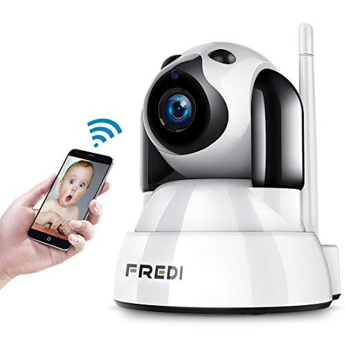 FREDI 1080P HD IP Telecamera di Sorveglianza Wifi Wireless Camera Interno  Telecamera wi-fi senza fill con Controllo Remoto, Audio Bidirezionale,