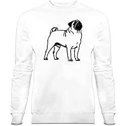 Sudadera Pug Outline by Shirtcity
