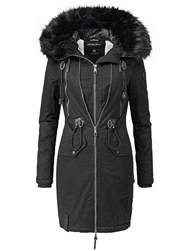 Navahoo Damen Winter Mantel Winterparka Leola (vegan hergestellt) 5 Farben XS-XXL