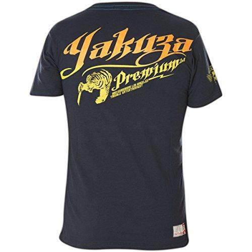 Yakuza Premium T-Shirt YPS-2202 Dunkelblau Blau