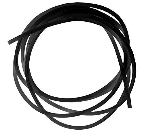eeddoo® 1,2 mm - 100 cm - BK - Black/Schwarz - PTFE - Schnur (Piercing Ersteinsatz ETFE Bioplast)