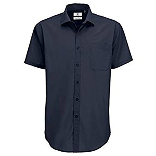 B&C Collection Herren Modern Business-Hemd Navy