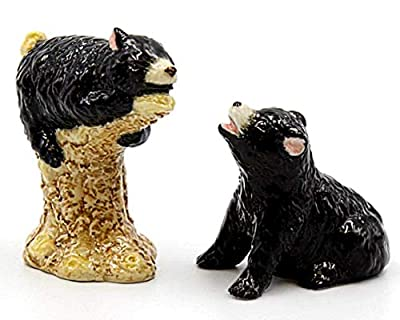 COSMOS Gifts Black Bears Ceramic Salt and Pepper Shakers Animals Wildlife 20775 from COSMOS GIFTS CORP.