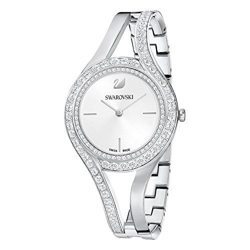 Swarovski Damen-Armbanduhr Analog Quarz One Size, weiß/Silber, silberfarben