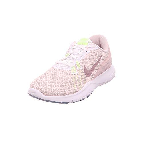 Nike Damen Trainingsschuh Flex Trainer 7 Laufschuhe, Mehrfarbig (White/Elemental Rose 104), 37.5 EU